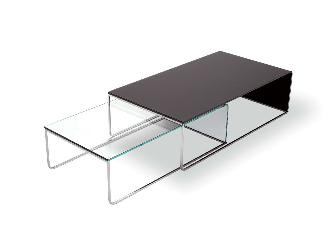 Nido table basse by sovet italia design lievore altherr molina for Table gigogne en verre