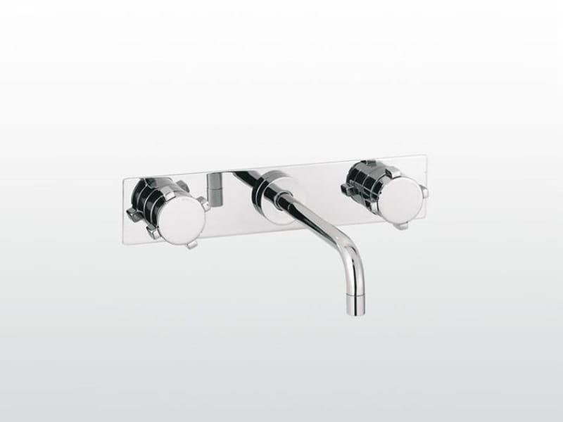robinet pour lavabo 3 trous mural avec plaque collection. Black Bedroom Furniture Sets. Home Design Ideas