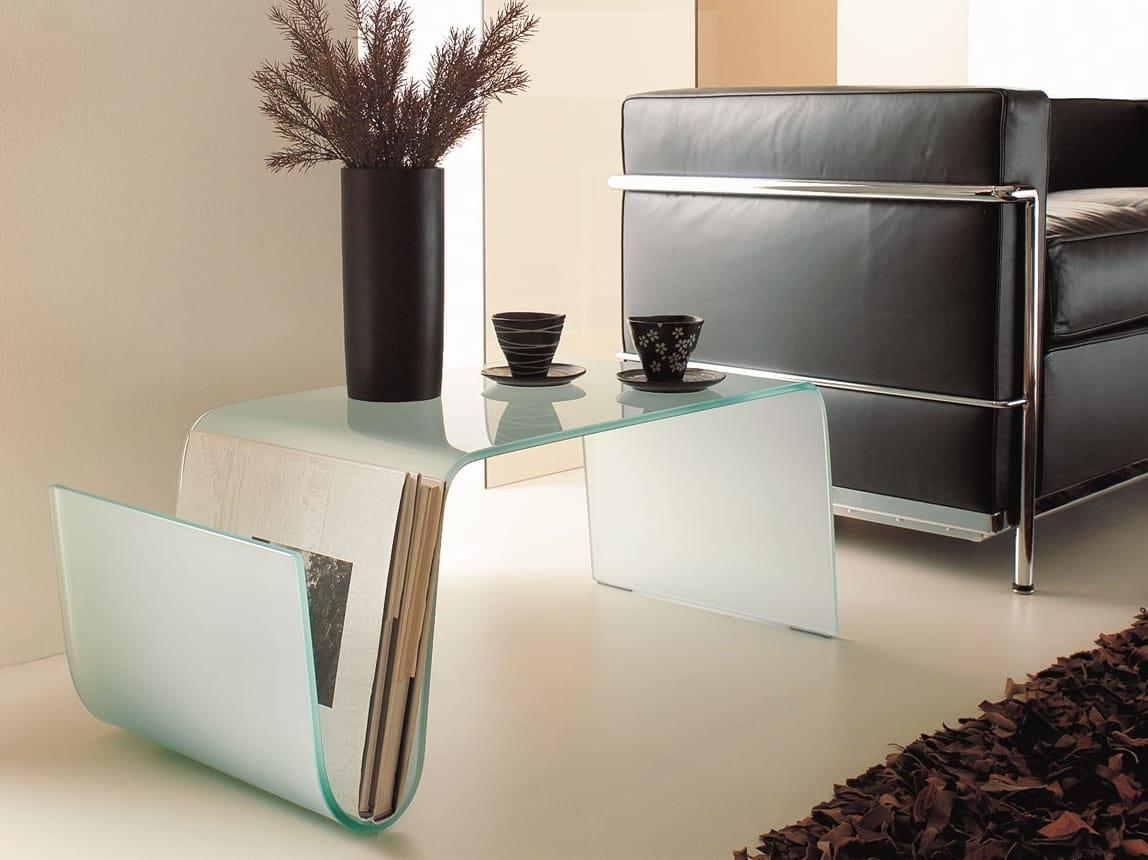 Couchtisch aus Glas für Wohnzimmer CURVA by ITALY DREAM