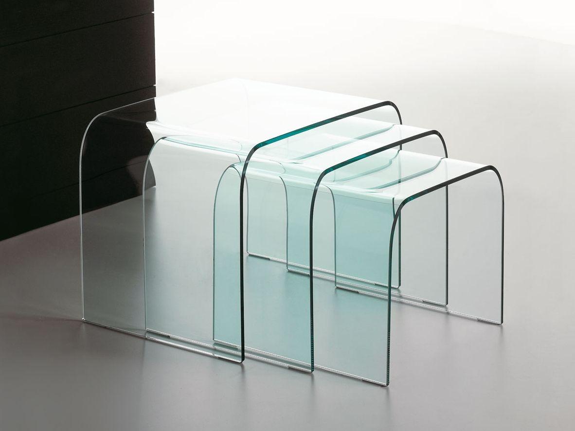 Tavolino impilabile in vetro driade by italy dream design kallist - Bibliotheque en verre design ...