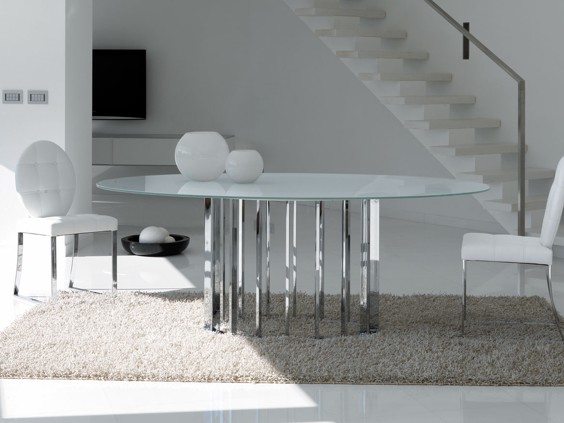 Table ovale manger de style contemporain embassy by italy dream design ka - Table a manger ovale design ...