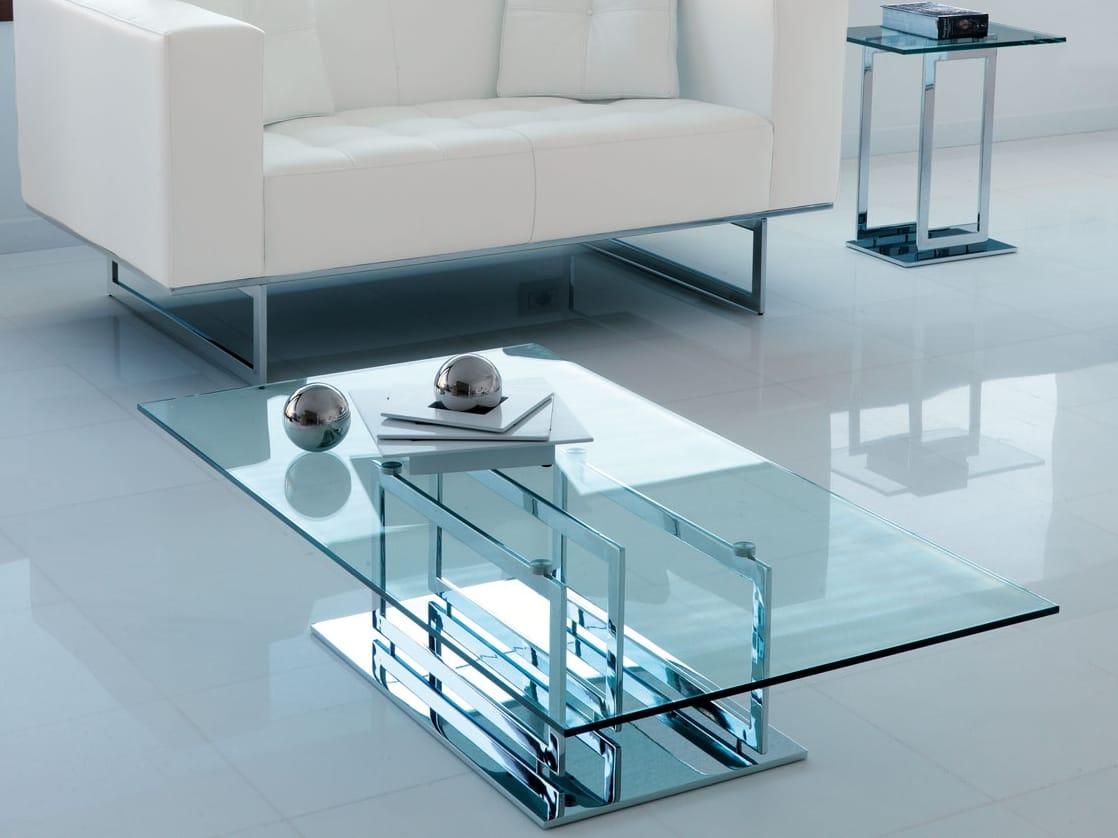 Decoration Cuisine Cupcake : Table basse en verre de style contemporain de salon EXCELSIOR by ITALY