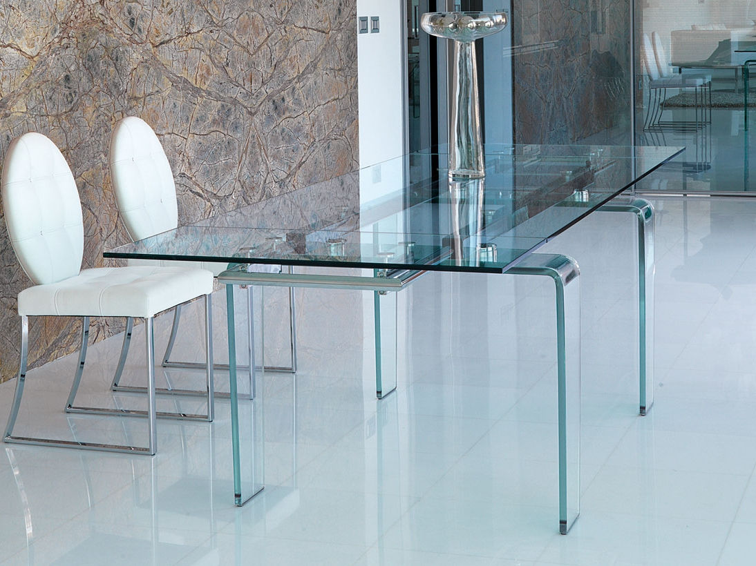 Ghost mesa de vidrio by italy dream design - Mesa de comedor cristal ...