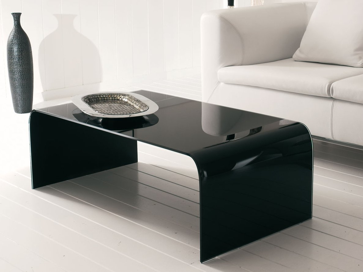 Table basse en verre de salon titano by italy dream design - Table de salon en verre ...