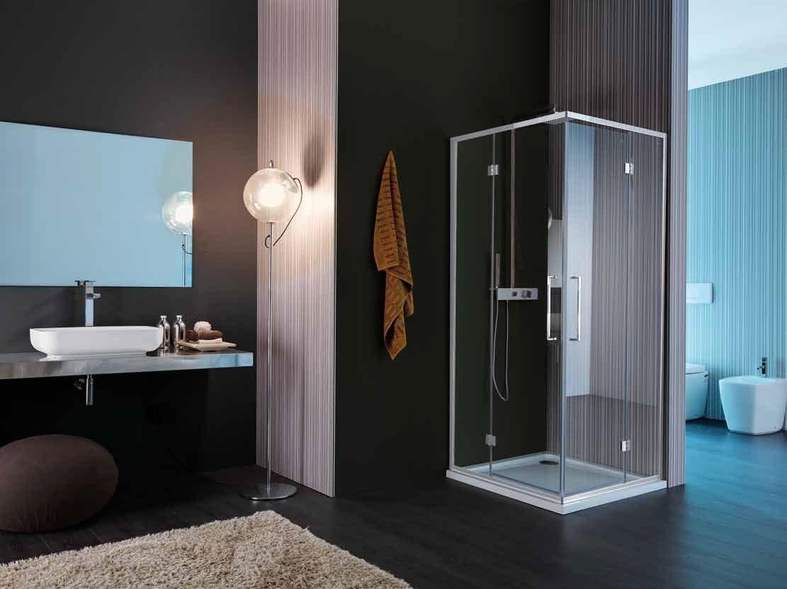 vis cabine de douche avec porte battante by samo. Black Bedroom Furniture Sets. Home Design Ideas
