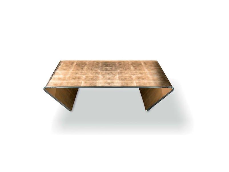 Rectangular Crystal Coffee Table Rubino By Sovet Italia