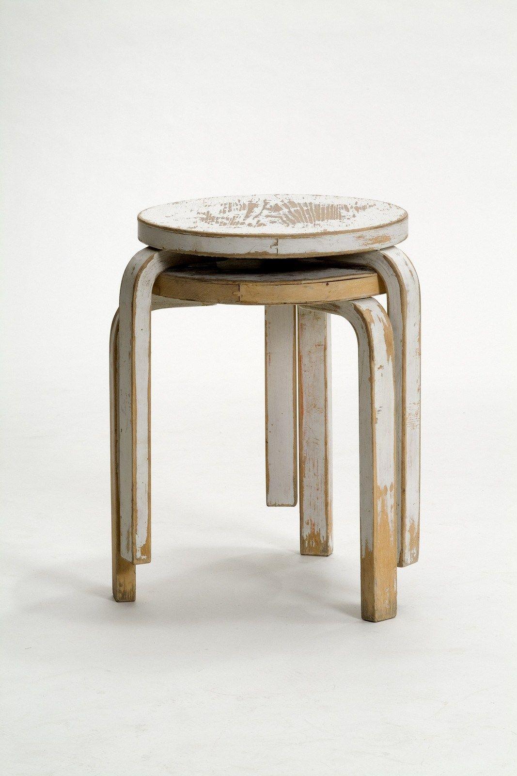 60 Stackable Stool By Artek Design Alvar Aalto