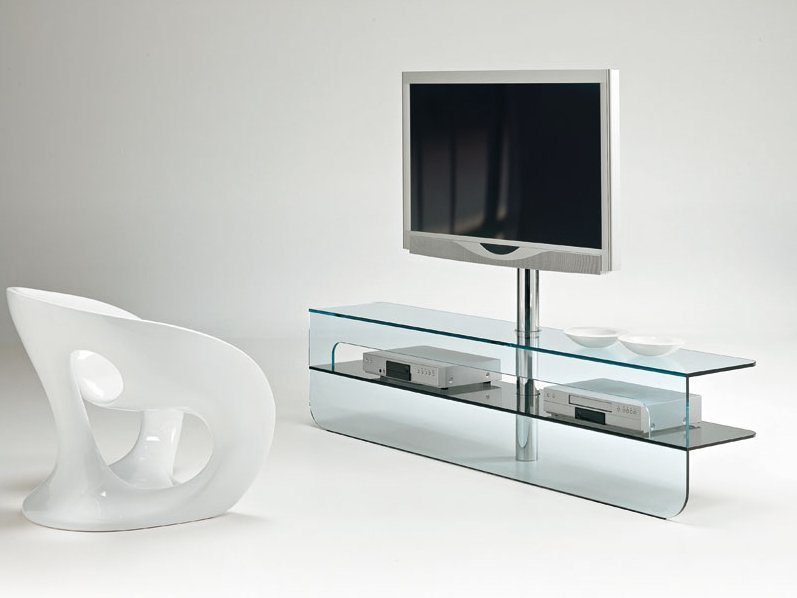 Meuble tv bas verre for Meuble tv en verre design