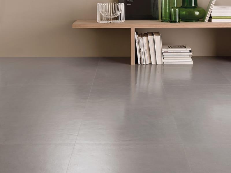 pavimento in gres porcellanato effetto resina concept by