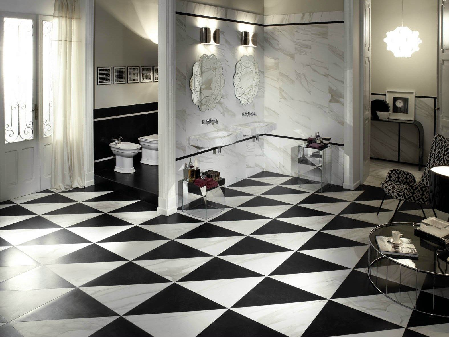 rev tement de sol en gr s c rame effet marbre evolutionmarble by marazzi. Black Bedroom Furniture Sets. Home Design Ideas