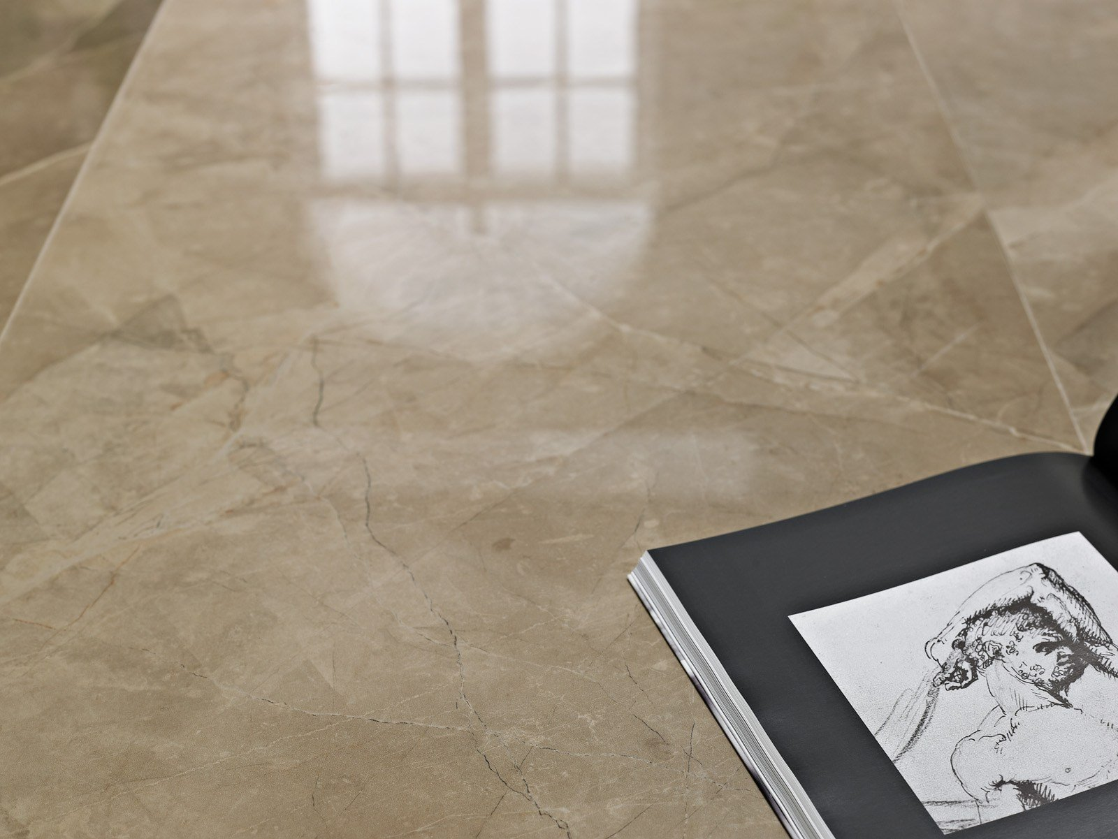 Porcelain stoneware flooring with marble effect EVOLUTIONMARBLE by MARAZZI
