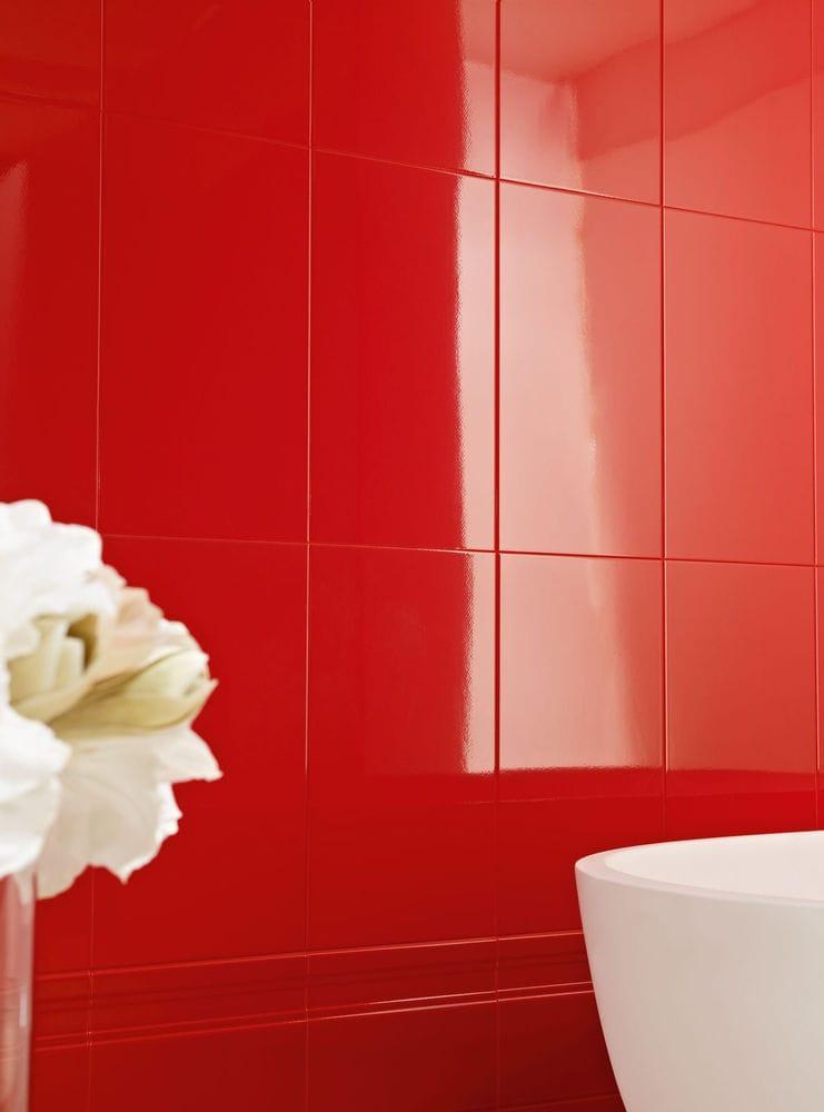Revestimento de parede em monoporosa pasta branca palace - Piastrelle bagno rosse ...