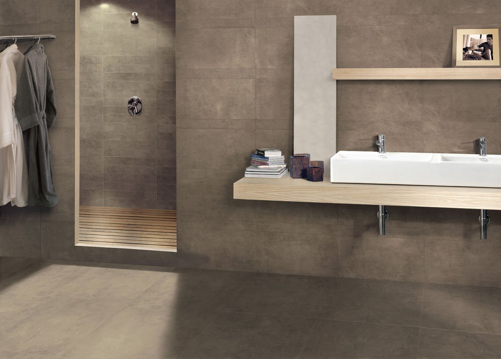 Porcelain stoneware wall floor tiles with stone effect for Marazzi tile