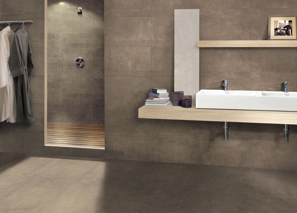 Porcelain stoneware wall floor tiles with stone effect Marazzi tile