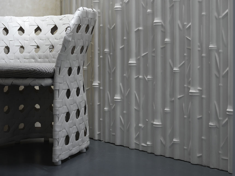 panneau mural 3d bamboo by 3d surface design jacopo cecchi romano zenoni. Black Bedroom Furniture Sets. Home Design Ideas