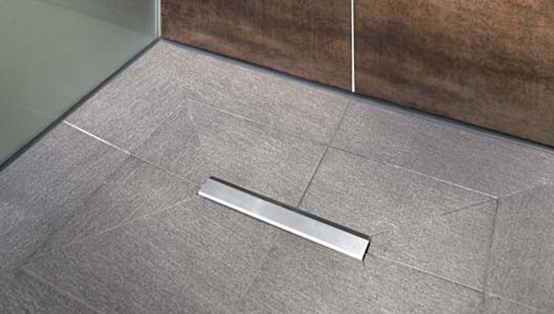 flush fitting tiled shower tray fundo riofino fundo collection by wedi italia