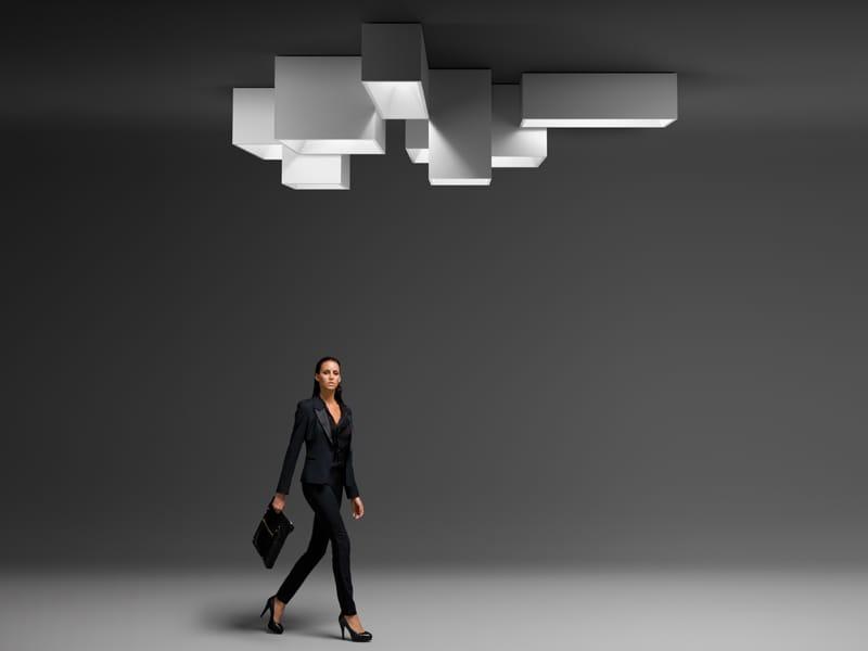 Lámpara de techo modular link xxl by vibia diseño ramón esteve