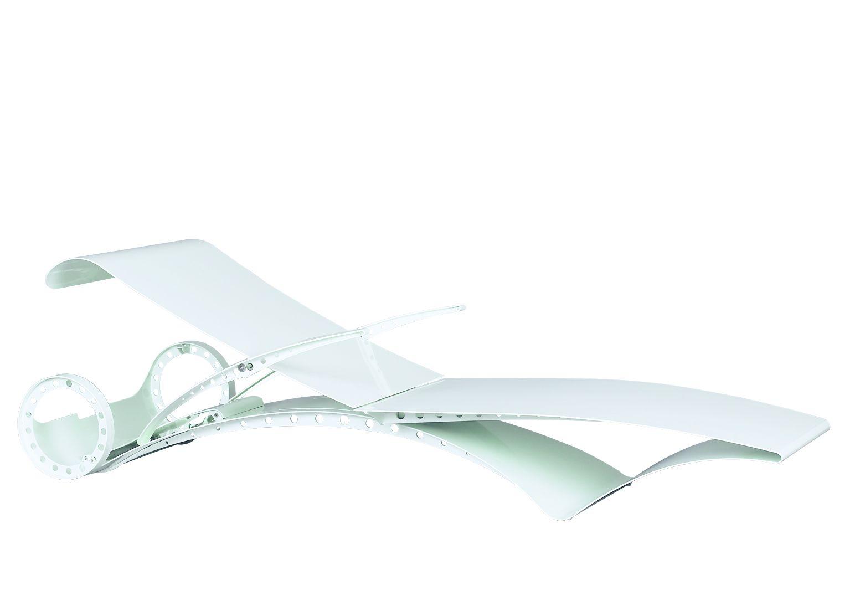 verstellbarer gartenliege aus aluminium mit rollen. Black Bedroom Furniture Sets. Home Design Ideas