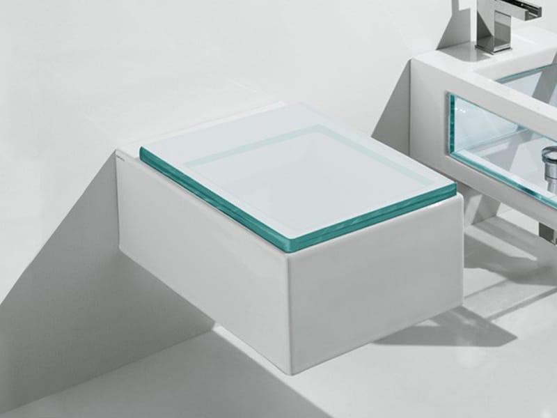 glass wc suspendu by gsg ceramic design design massimiliano abati. Black Bedroom Furniture Sets. Home Design Ideas