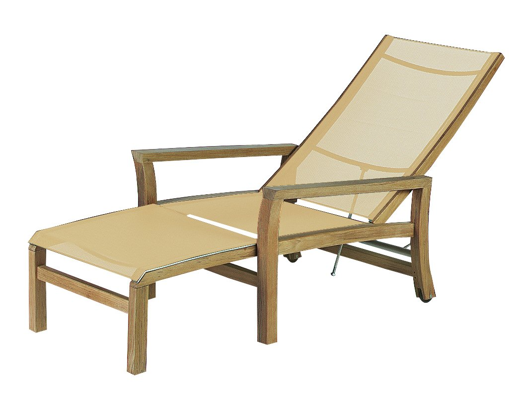 Mixt Teak Deck Chair With Footrest Mixt Deck Chair Royal Botania