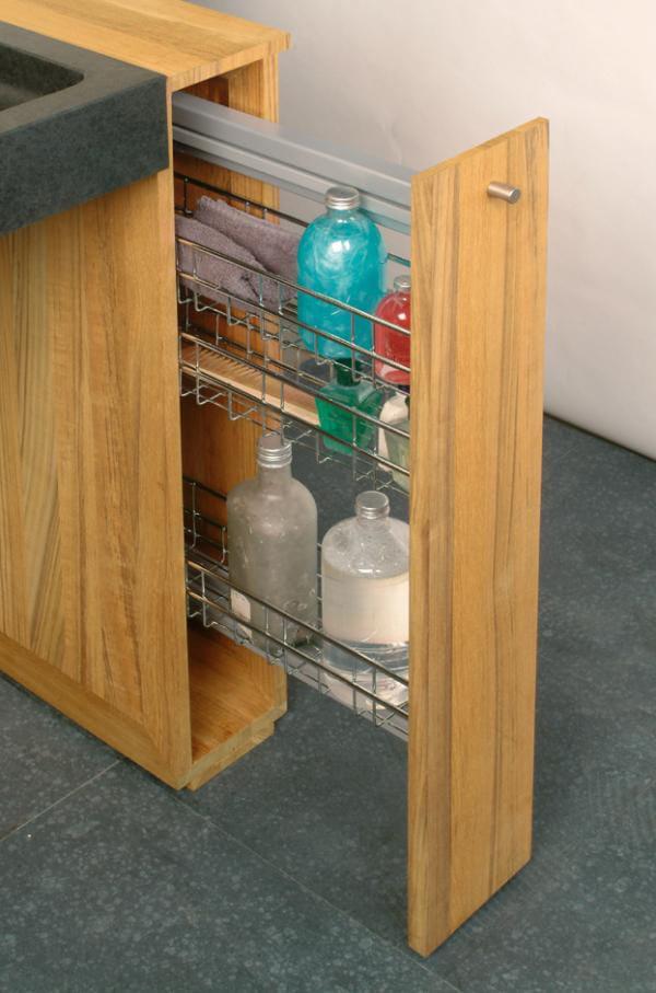 Meuble pour salle de bain en bois avec rangement for Meuble pour collection