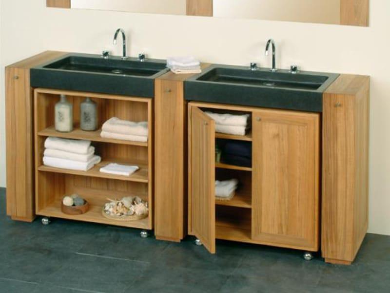 badm bel aus holz mit aufbewahrung auf rollen. Black Bedroom Furniture Sets. Home Design Ideas
