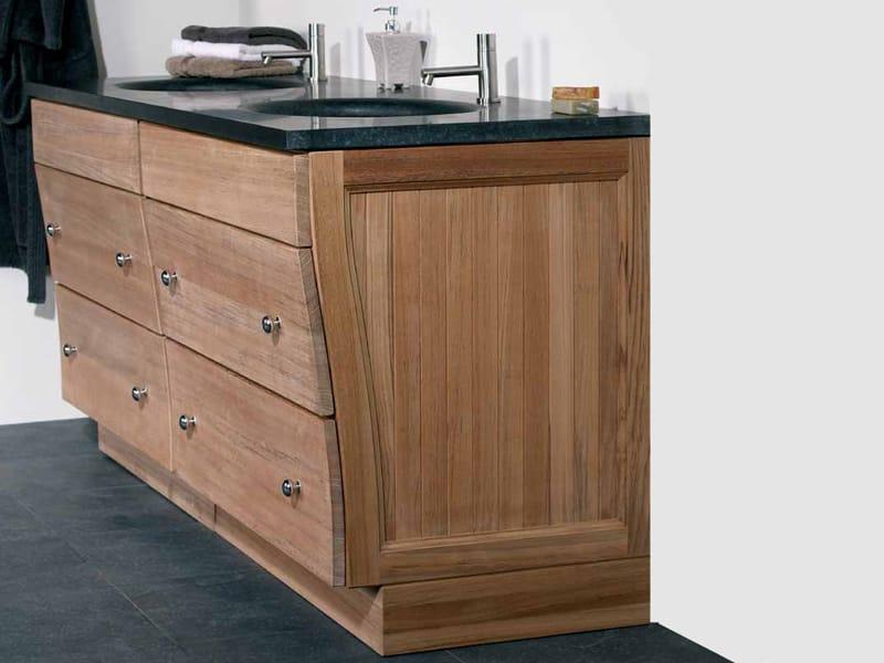 Meuble sous vasque en bois avec tiroirs winston collection for Meuble columbus