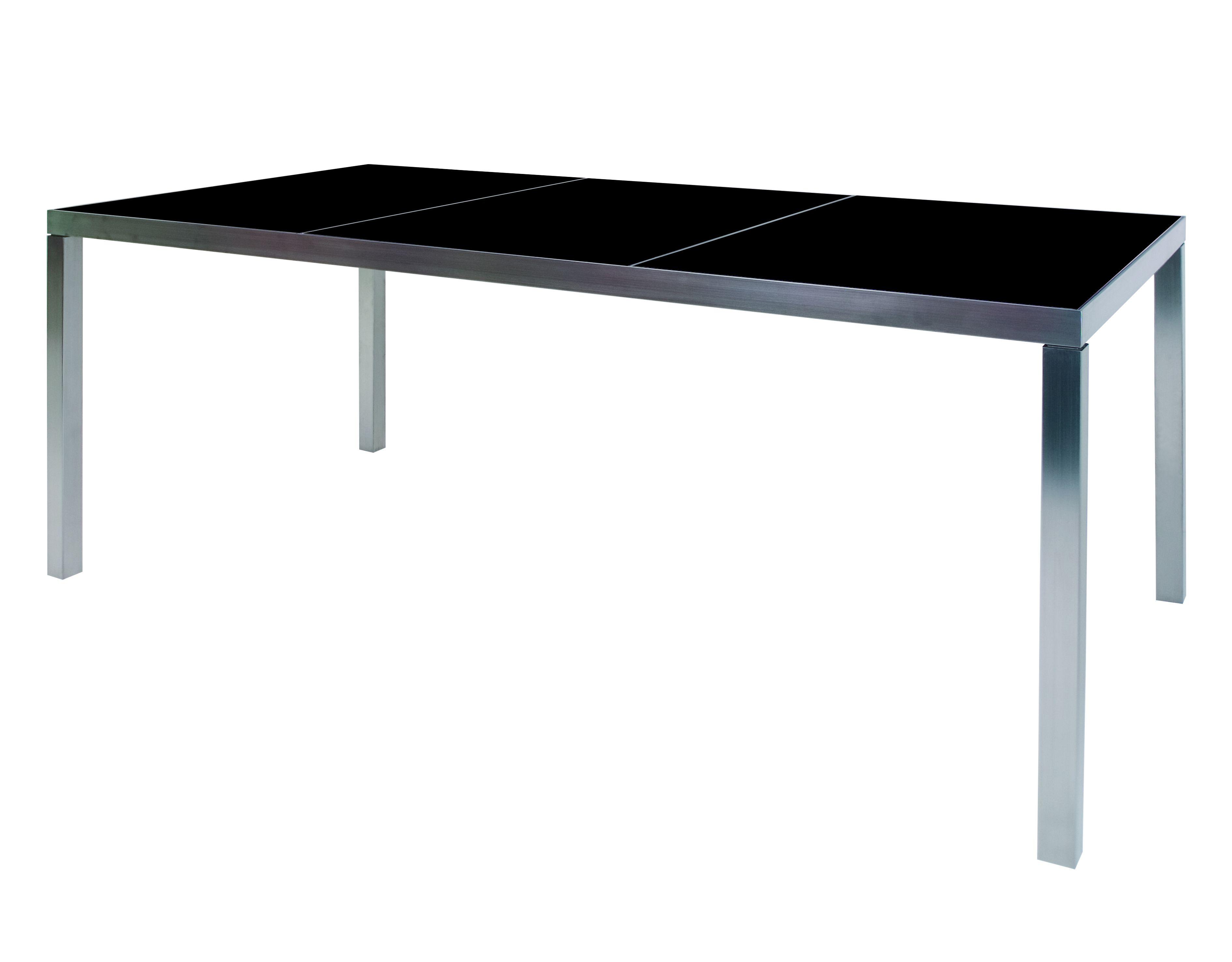 Table de jardin rectangulaire en acier inoxydable sexion - Table en acier inoxydable ...