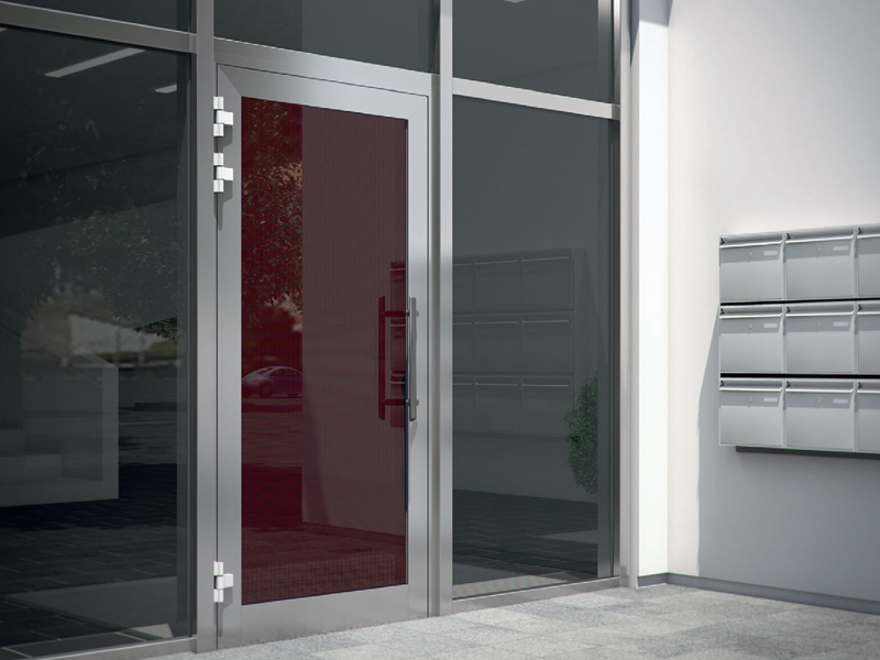 Porte d entr e isolante en verre sch co ads by sch co for Porte ads 60 schuco