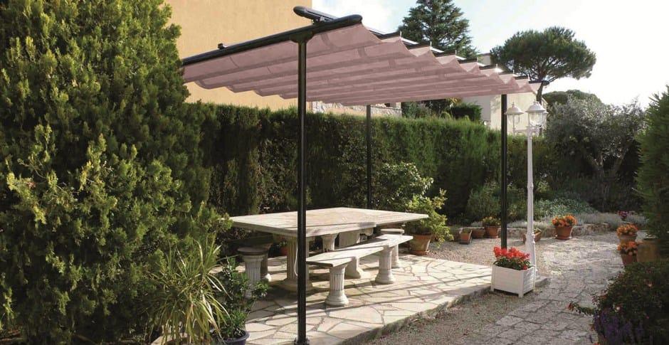 freistehende terrassen berdachung mit faltdach tosca by ke. Black Bedroom Furniture Sets. Home Design Ideas