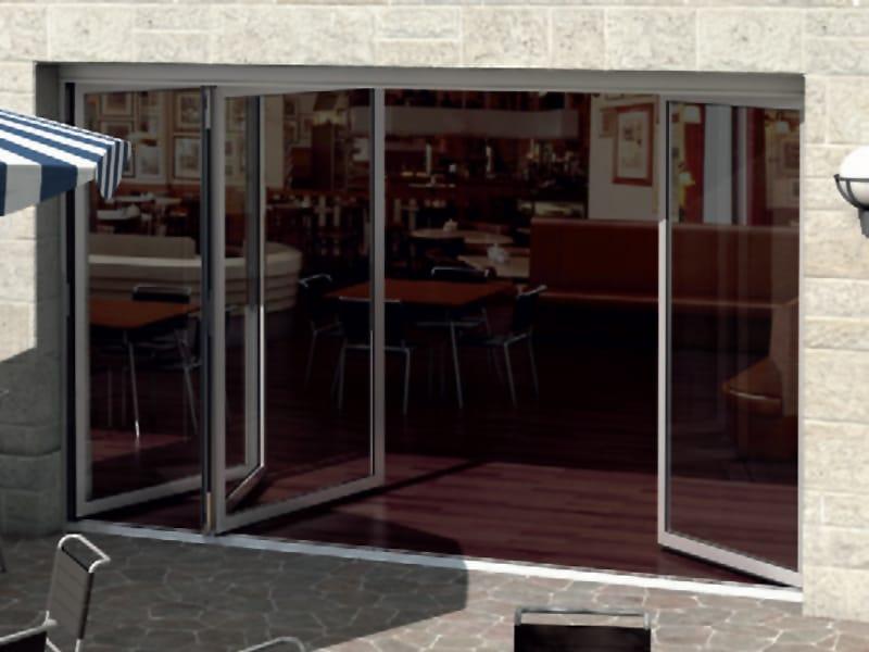 Porta finestra a libro in alluminio sch co ass 50 fd ni by - Porte finestre a libro ...