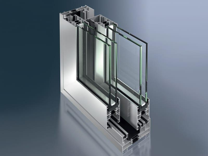 Metal frame glass doors for cabinets aluminum glass cabinet doors