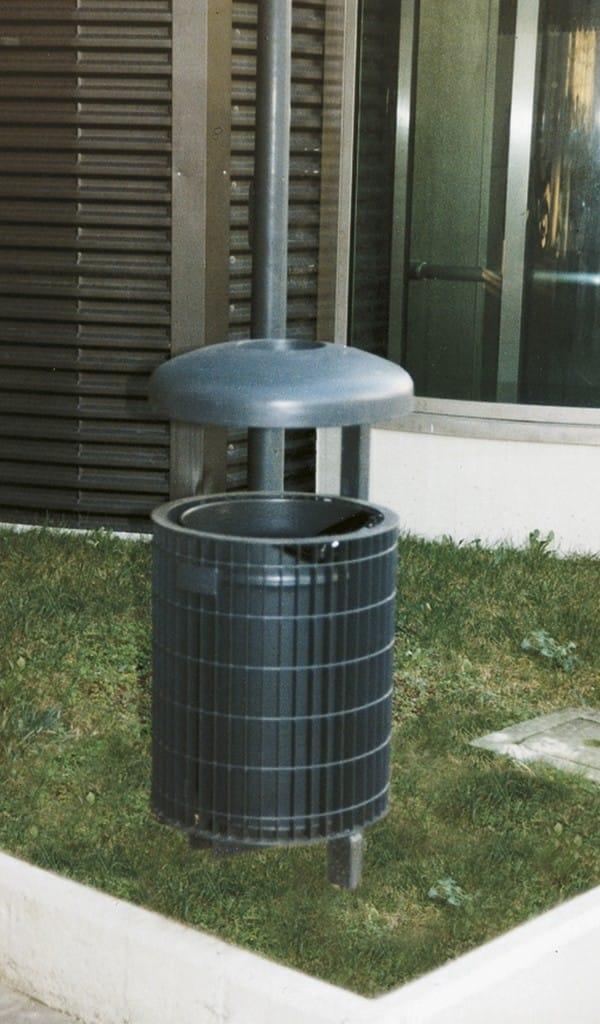 Poubelle en m tal avec cendrier pour ext rieur mundial for Cendrier exterieur
