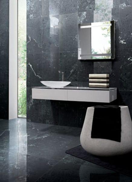 bagni con pavimebto nero gres porcellanato : Pavimento/rivestimento in gres porcellanato effetto marmo NERO ...