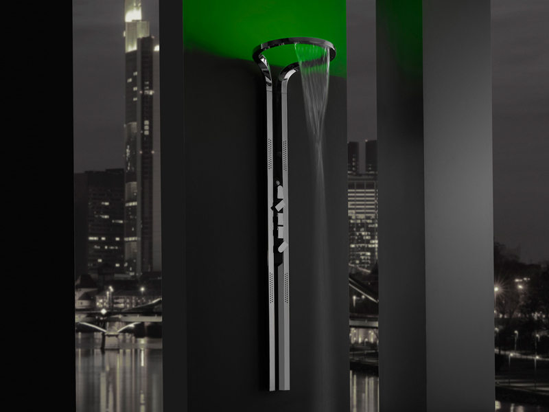 Ametis colonne de douche by graff europe west design davide oppizzi - Colonne de douche avec led ...