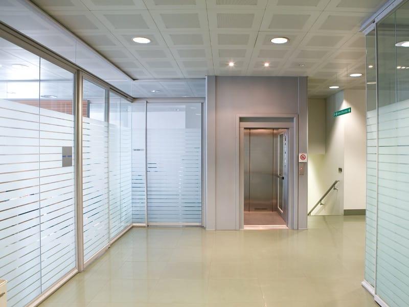 Pareti In Vetro E Alluminio: Pareti mono vetro stilofficedesign.