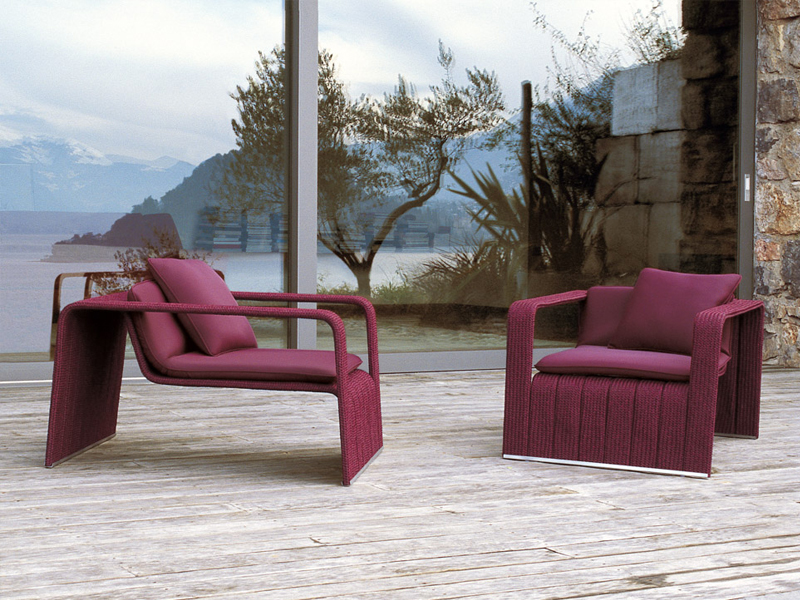 frame garden armchair by paola lenti design francesco rota. Black Bedroom Furniture Sets. Home Design Ideas