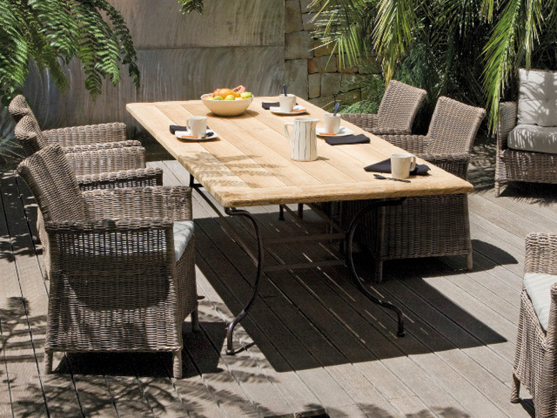 mesa de jardim ferro:Mesa de jardim de ferro forjado CAPRI