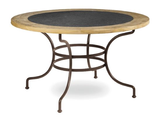 Capri mesa de jard n redonda by manutti for Table de jardin ronde en fer