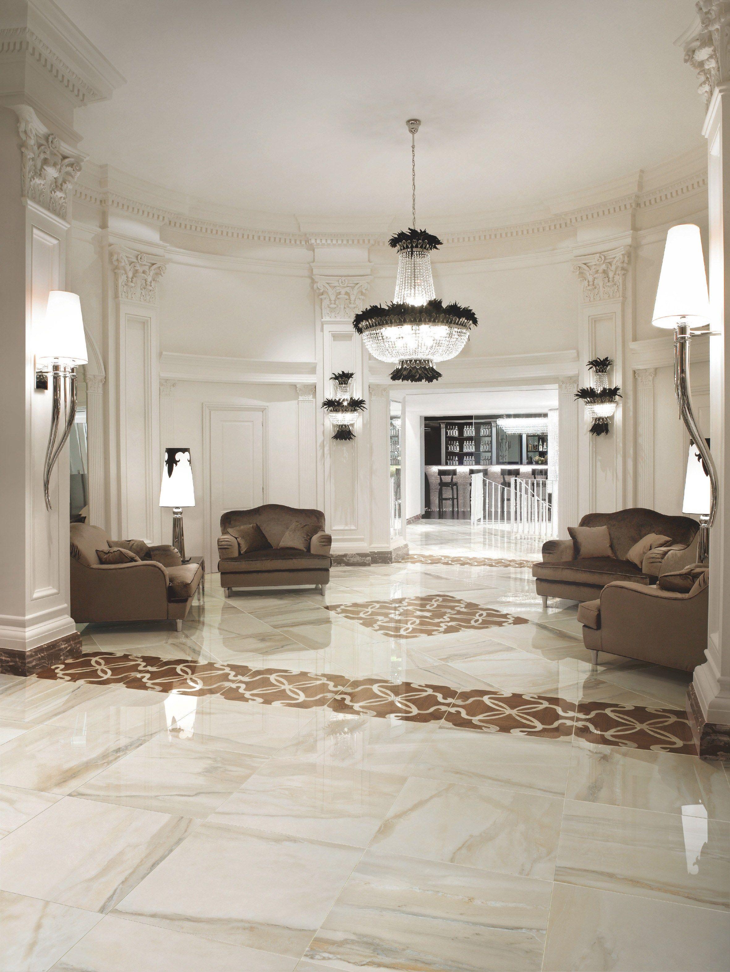 Pavimento/rivestimento in gres porcellanato effetto marmo LUXOR by ...