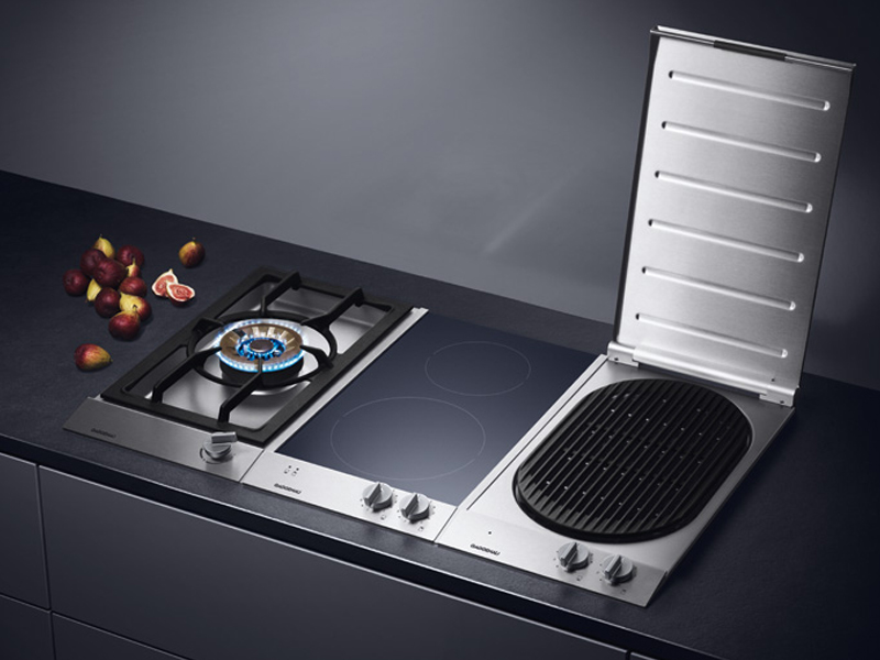 electric hob with grill vr 230 vario 200 series by gaggenau. Black Bedroom Furniture Sets. Home Design Ideas