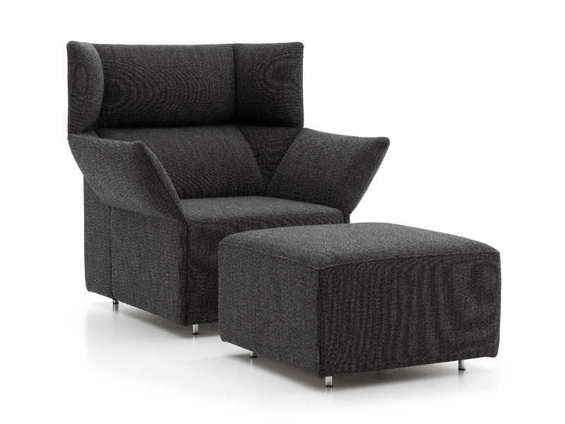 Armchair With Fire Retardant Padding With Armrests Origami Collection By Offecct Design Carlos