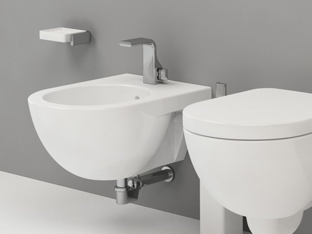 Bidet sospeso in ceramica linea quick by ceramica flaminia for Architec bidet sospeso