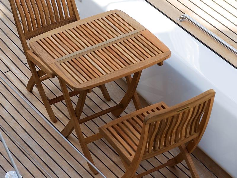 Tavolo Da Giardino Pieghevole Quadrato In Legno Del Rey