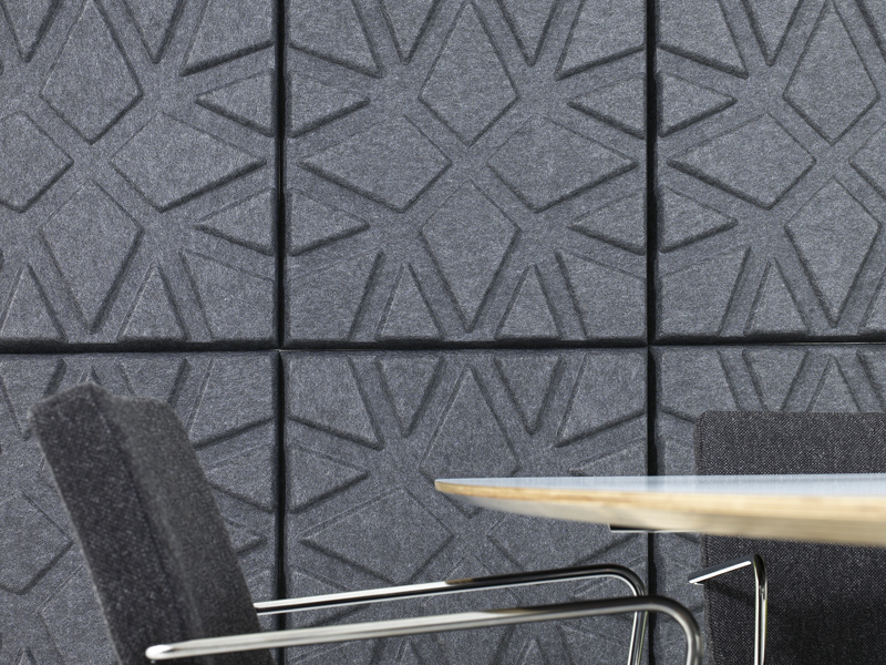 Polyester fibre decorative acoustical panels geo by offecct design ineke hans - Decorative acoustic wall panels ...