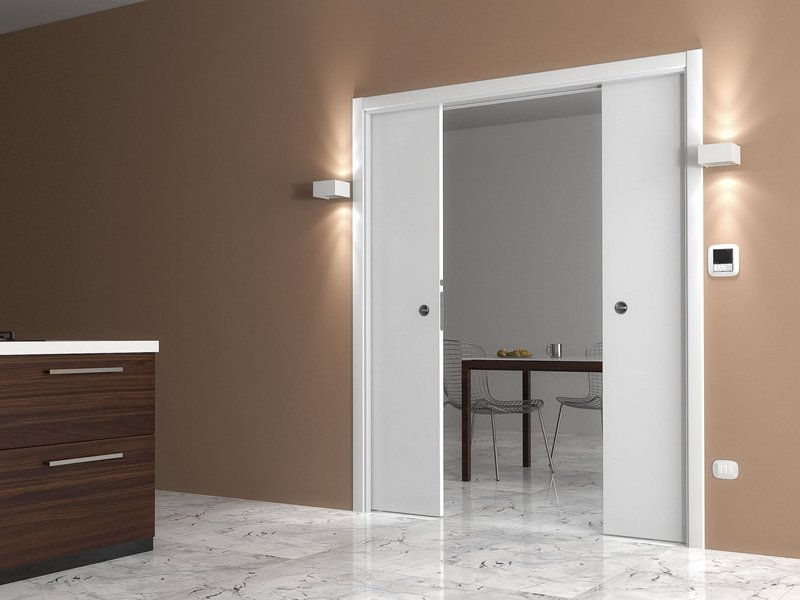 Contre ch ssis oppos s pour portes coulissantes luminox double vantaux by ermetika for Porte coulissante double vantaux