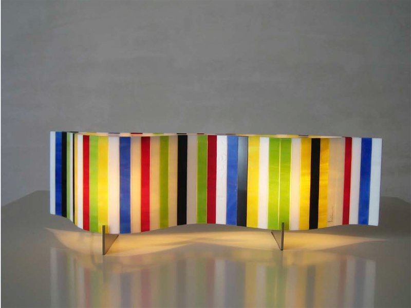 Glass table lamp vento pop collection by arturo alvarez - Lamparas arturo alvarez ...