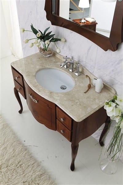 Mueble bajo lavabo de madera novecento 1 by legnobagno for Mueble lavabo madera