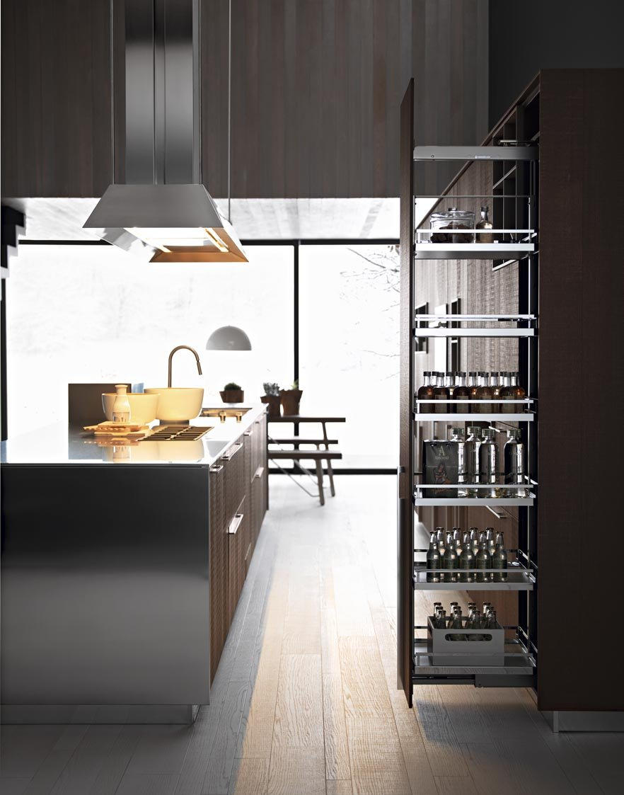 Fitted kitchen with island kalea composition 1 by cesar for Living room ideas trackid sp 006