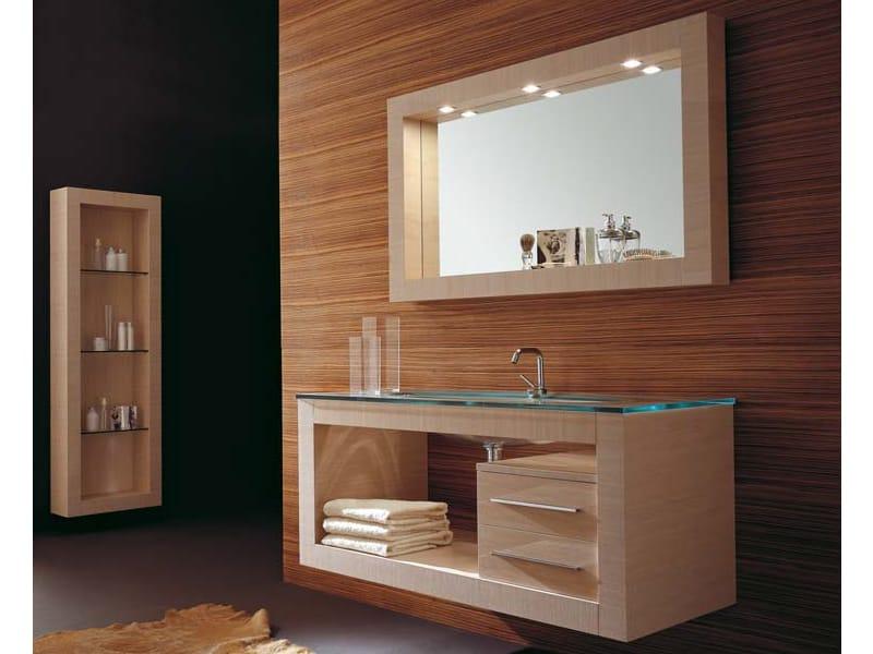 Mobile lavabo sospeso con cassetti iks 12 collezione iks - Top bagno legno massello ...